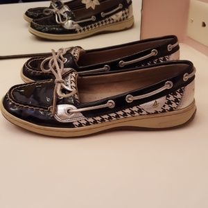 SPERRY TOP-SIDER ANGELFISH HOUNDSTOOTH BOOT SHOE